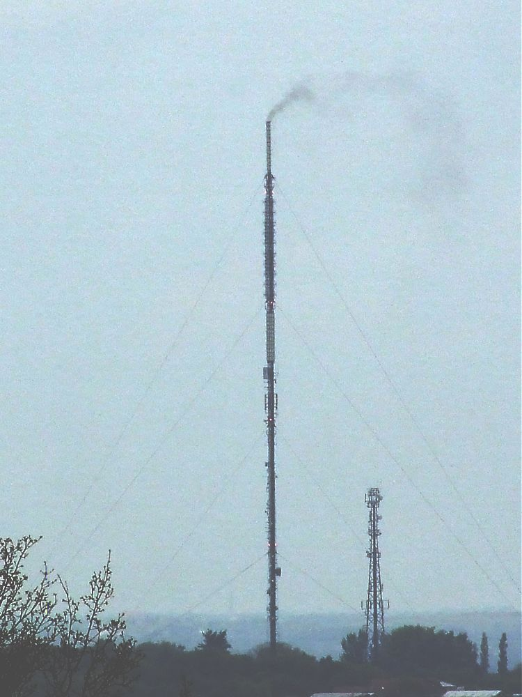 Smoke from Transmitter Aerial